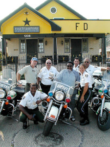 Fats Domino at home (pre-Katrina) with a bunch of Deputies from Tampa, FL